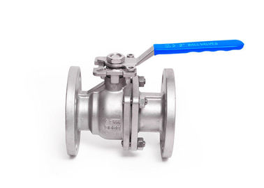 DIN Double Flanged Ball Valve ISO5211 Pad With Handle Or Actuator