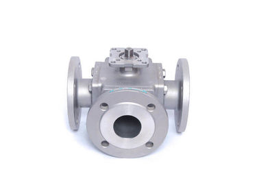 Small Full Port 3 Way Flanged Ball Valve
