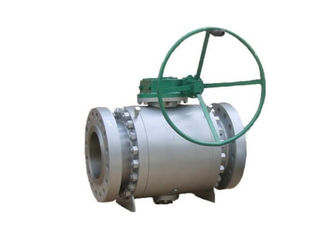 Trunnion Mounted Soft Seated Ball Valve , Blowout Proof Stem Ball Valve